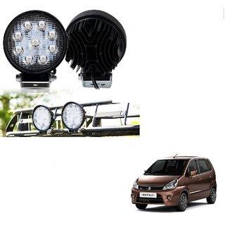 Auto Addict DEVICE 4 inch, 9 LED 27Watt Round Fog Light with Flood Beam Auxiliary Lamp Set Of 2 Pcs For Maruti Suzuki Zen Estilo