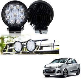 Auto Addict DEVICE 4 inch, 9 LED 27Watt Round Fog Light with Flood Beam Auxiliary Lamp Set Of 2 Pcs For Hyundai Xcent