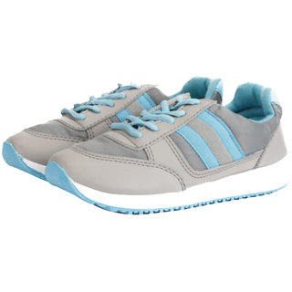 Goldstar Grey Blue Running Shoes For Women