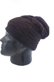 Urban Krew Men Women Soft Fur Lined Thick Knit Cap Warm Winters Slouchy Beanies UK - 028