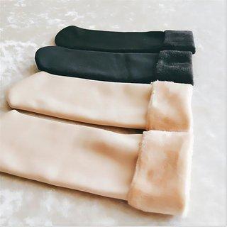 Wool Snow Boots Cotton Velvet Floor Socks 2Pic.