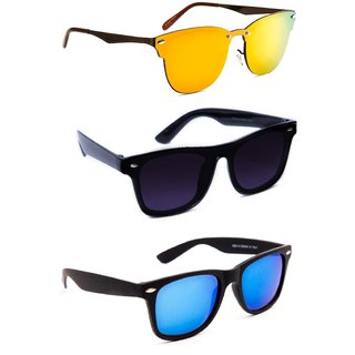 e5b60dd320ae Buy TheWhoop Super Combo UV Protected New Wayfarer Sunglass Goggles For Men