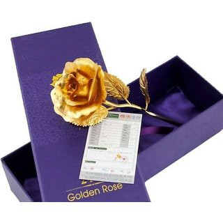 GoodsBazaar 24K Golden Rose with Gift Box and Carry Bag - Best Valentine's Day Gift Birthday Gifts