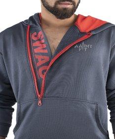 aarmy fit mens grey hoodi sweatshirt jacket