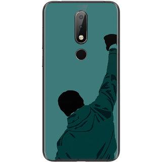 PEEPAL Nokia 6.1 Plus Designer & Printed Case Cover 3D Printing Rocky Style Design
