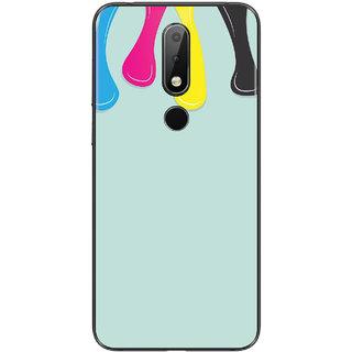 PEEPAL Nokia 6.1 Plus Designer & Printed Case Cover 3D Printing Art Multi Colour Design