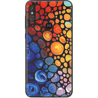 PEEPAL Motorola One Power Designer & Printed Case Cover 3D Printing Art Multi Colour Design