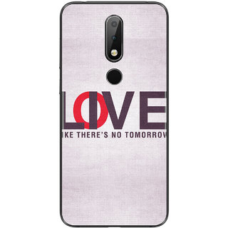 PEEPAL Nokia 6.1 Plus Designer & Printed Case Cover 3D Printing Love or Live Design