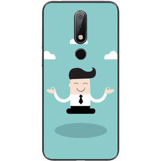 PEEPAL Nokia 6.1 Plus Designer & Printed Case Cover 3D Printing Corporate Yoga Design