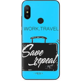 PEEPAL Xiaomi Note 6 Pro Designer & Printed Case Cover 3D Printing Work & Travel Design