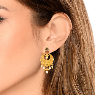 Mj Comfortable One Gram Gold Plated Chandbali Earring For Women Online Get 86 Off