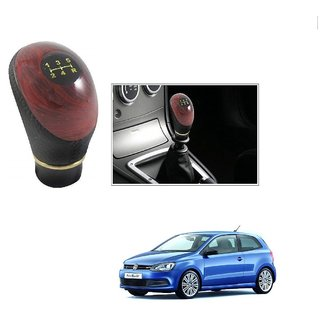 Buy Auto Addict Leatherette Wooden Finished Gear Knob Black Car Gear