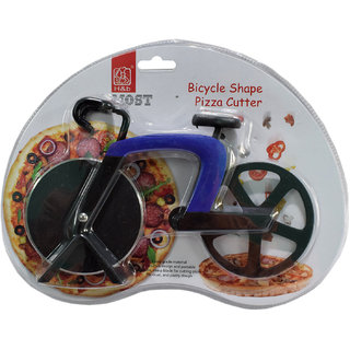 6th Dimensions Bicycle Shaped Pizza Cutter (Blue)