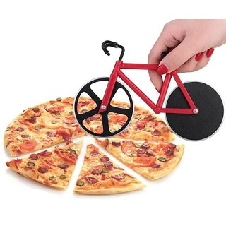 6th Dimensions Bicycle Shaped Pizza Cutter (RED)