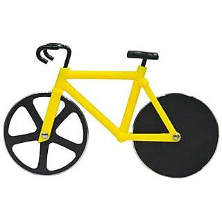 6th Dimensions Bicycle Shaped Pizza Cutter (Yellow)