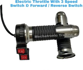 Electric Bike Throttle with Forward  Reverse switch / E-Bike throttle with High, Medium  Low accelerator