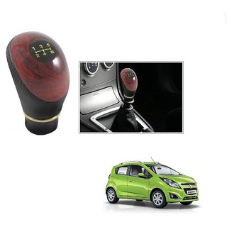 Buy Auto Addict Leatherette Wooden Finished Gear Knob Black Car