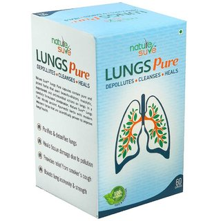 Nature Sure Lungs Pure Capsules for Men  Women  1 Pack (60 Capsules)