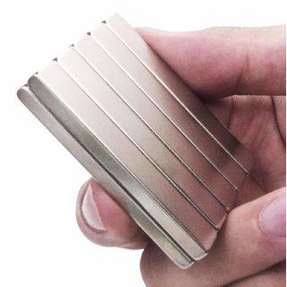 Techamazon  Neodymium N52 Grade Super Strong Magnet 20x10x2 mm, Type Cuboid, Set of 5