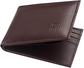 Unique Collections Brown Leatherite Bi-Fold Wallet For Men (Spr-02) (Synthetic leather/Rexine)
