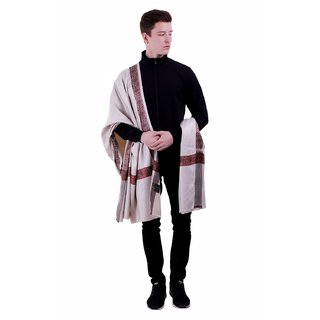 Varun Cloth House Mens Woollen Embellished Shawl/Lohi (vch5534, Grey, Free Size)