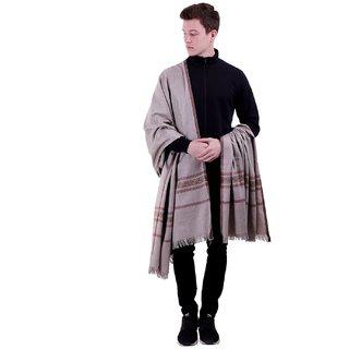 Varun Cloth House Mens Woollen Embellished Shawl/Lohi (vch5527 Grey Free Size)