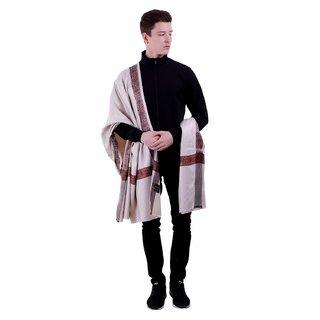 Varun Cloth House Mens Woollen Embellished Shawl/Lohi (vch5529 Grey Free Size)