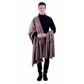 Varun Cloth House Mens Woollen Embellished Shawl/Lohi (vch5530, Grey, Free Size)