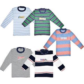 Jisha Multicolor (Vasuki) Full Sleeves Tshirt ( Set of 5)