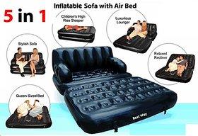 Air Sofa Cum Bed Love Seat 5 in 1+Mini massager+Aluma Wallet Free
