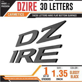 DZIRE sticker 3d sticker 3d emblem logo car car bonnet alphabets accessories exterior graphics for Maruti Suzuki Dzire