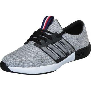 Shoeson men's gray lace-up sport shoes