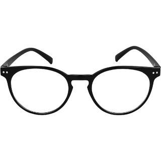 David Martin Anti-Glare Black Full Rim Round Eyeglass Frame