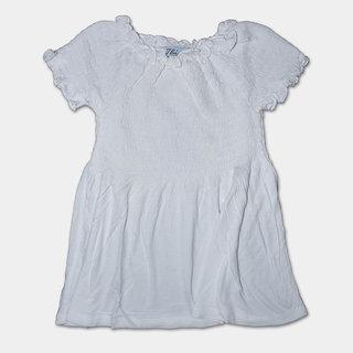 Thiram Girl's Smocked Top - White (TGTA02W)
