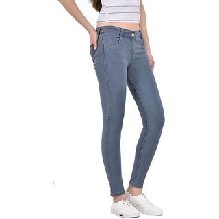 Malachi  Denim Jeans Skinny Fit Stretchable for Women and Girls Grey