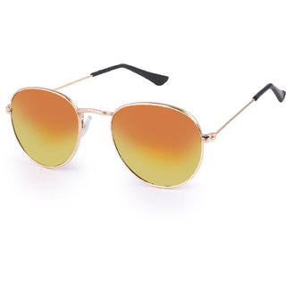 Debonair UV Protected Mirrored Round Sunglasses