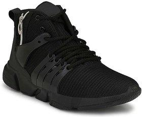 Shoeson Men's Black Running Shoes