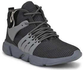 Shoeson Men's Grey Lace-up Running Sport Shoes