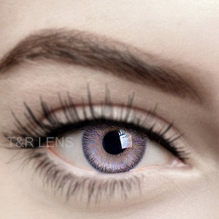 Crystal Eye Purple(voilet) Colour Monthly(Zero Power) Contact Lens