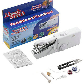 Handy Stitch Portable and Cordless Handheld Sewing Machine (White)