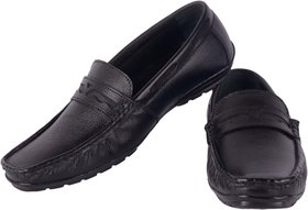 8f75d002bad5 Goosebird Men Black Pure Leather Loafers