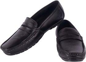 Goosebird Men Black Pure Leather Loafers