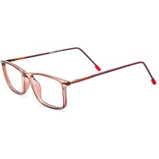MagJons transparent copper Fullrim Rectangular Spectacle Eye Wear Frame For Men  Women