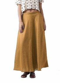 TNQ Raw Silk Skirt Golden /Women's Chanderi Maxi Skirt / Long Golden Silk Skirt / Long Skirt / Silk Skirt
