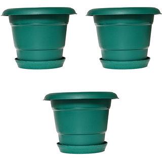 Crete Pvc Green Planter ( Set Of 3 Pcs )