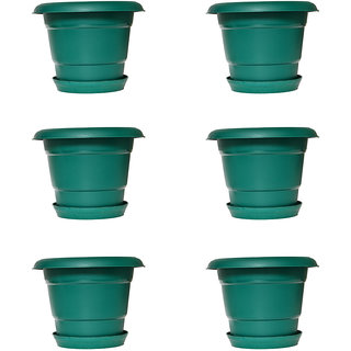 Crete Pvc Green Planter ( Set Of 6 Pcs )