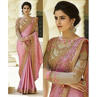 bhavna creation's brand new collection blue designer sarees with blouse piece