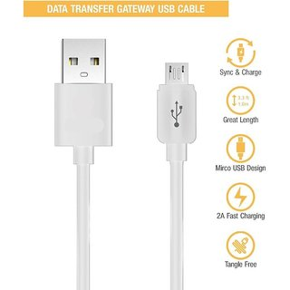 2.0 Amp Micro USB Cable, Fast Charging  High Speed Data Cable (All Phones With Micro USB Port, White)