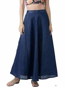 Raw Silk Skirt Navy Blue /Women's Chanderi Maxi Skirt / Long Navy Blue Silk Skirt / Long Skirt / Silk Skirt