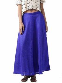 Raw Silk Skirt Blue /Women's Chanderi Maxi Skirt / Long Blue Silk Skirt / Long Skirt / Silk Skirt